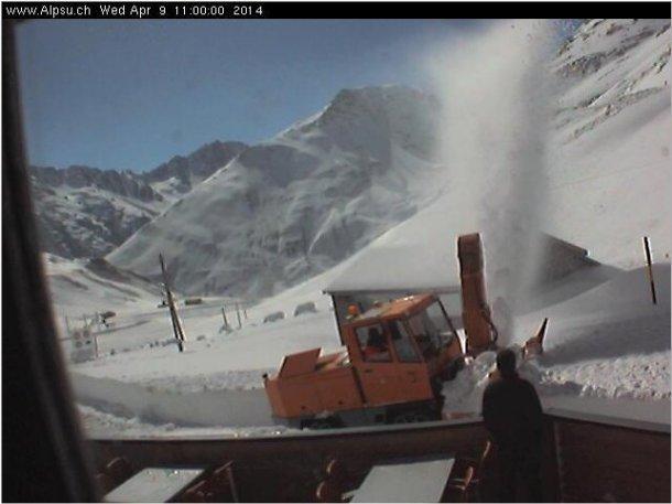 Schneeräumung Passhöhe