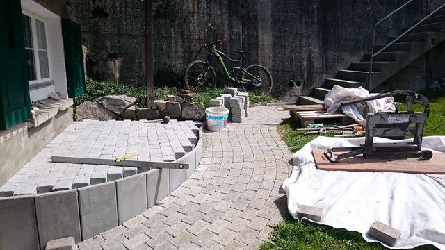 Terrasse Südseite,  Mai 2016