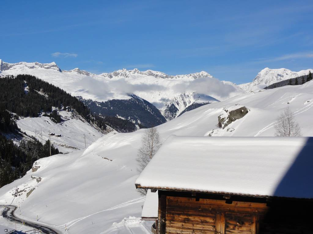 Winter View from House on Alps