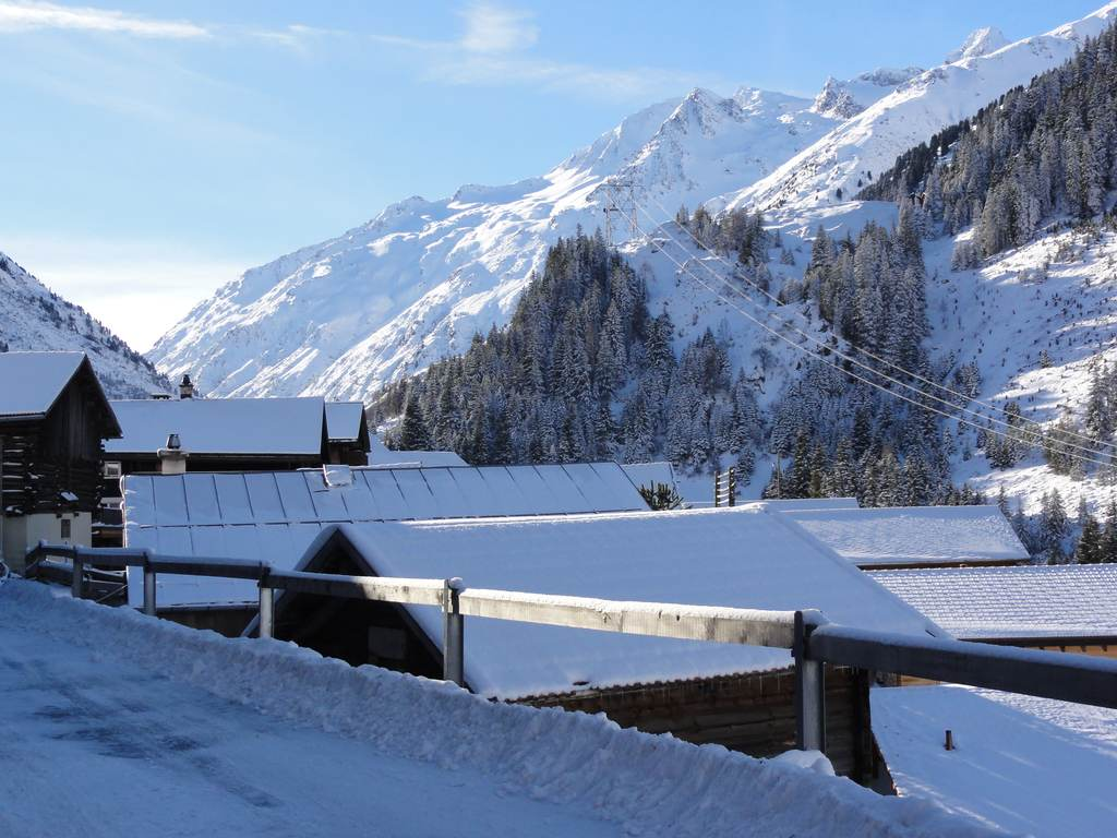 Winter View from house towards Lucmagn
